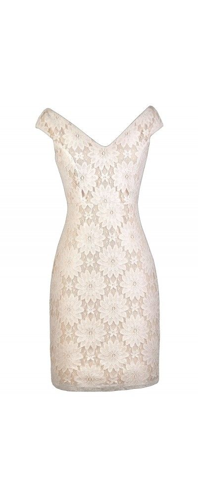 Could easily made this nude with cream lace overlay dress with BlueGingerDoll's Billie Jean dress pattern