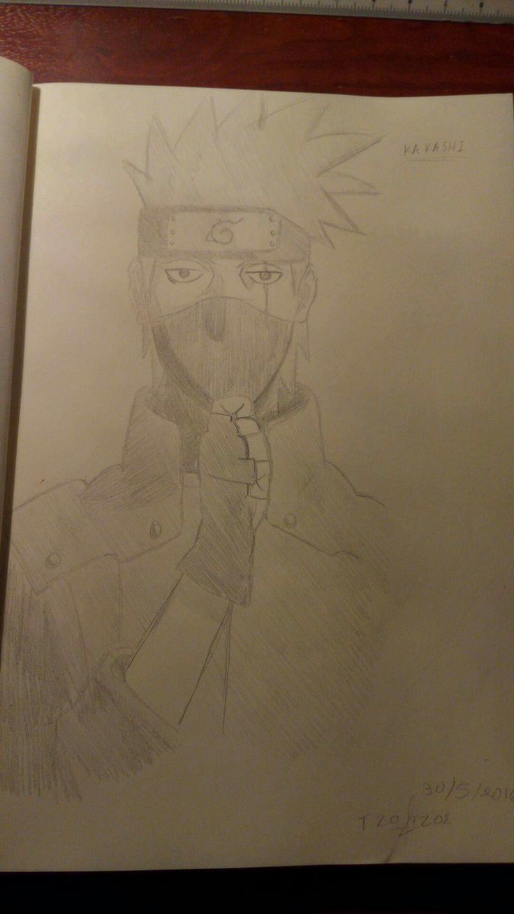 Kakashi gaiden drawing