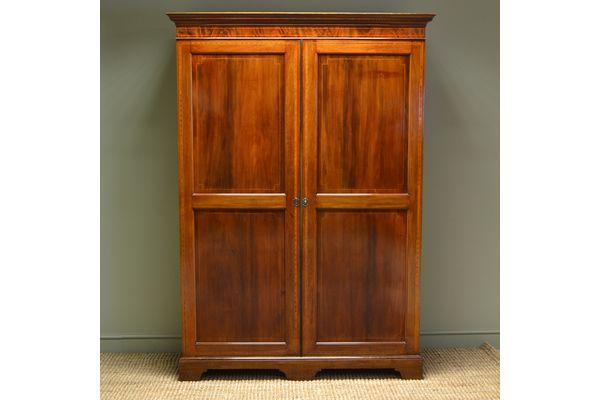 Large Edwardian Inlaid Mahogany #Antique Double Wardrobe | Vinterior London  #armoire #design #interiors #home
