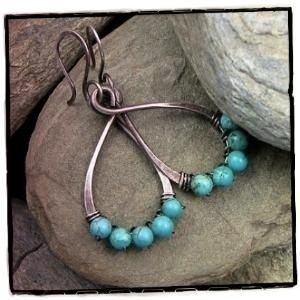 Southwestern Blue Turquoise Oxidized Sterling Silver Earrings Drops | CanadianRockiesArt - Jewelry on ArtFire angelfalls 428894 south-western-jewelry
