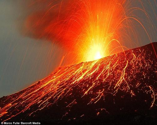Indonesian volcano, Krakatoa