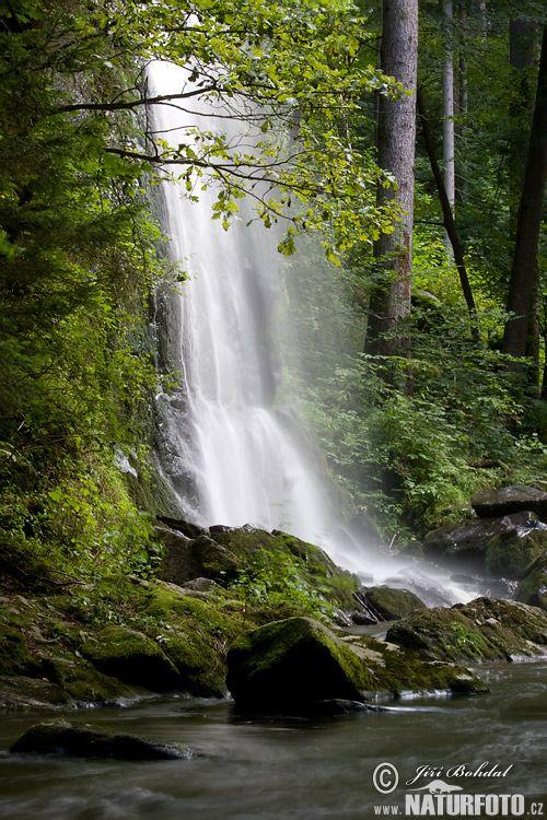 Terčino údolí, vodopád