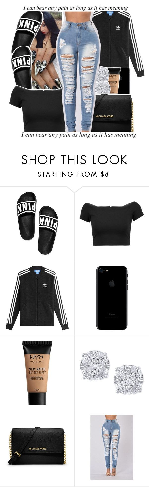 """scars to your beautiful !"" by yourmajestytaay ❤ liked on Polyvore featuring Alice + Olivia, adidas Originals, NYX, Effy Jewelry, MICHAEL Michael Kors and !iT Collective"