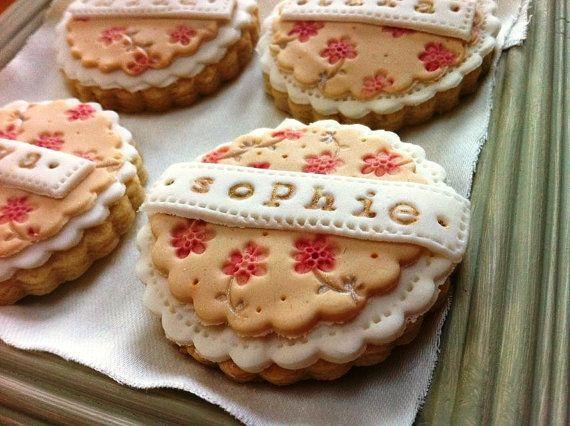 Personalisierte Hochzeit Gunst Cookies, Hochzeit Bevorzugungen, Blumen Hochzeit, Hochzeitsgeschenk, Hochzeit-Keksen, Jahrgang Hochzeitsgeschenk personalisiert