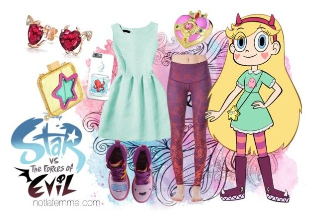 """""""Star vs. the Forces of Evil"""" by nikitonium on Polyvore featuring Charlotte Olympia, Dr. Martens, Mawi and Bling Jewelry"""