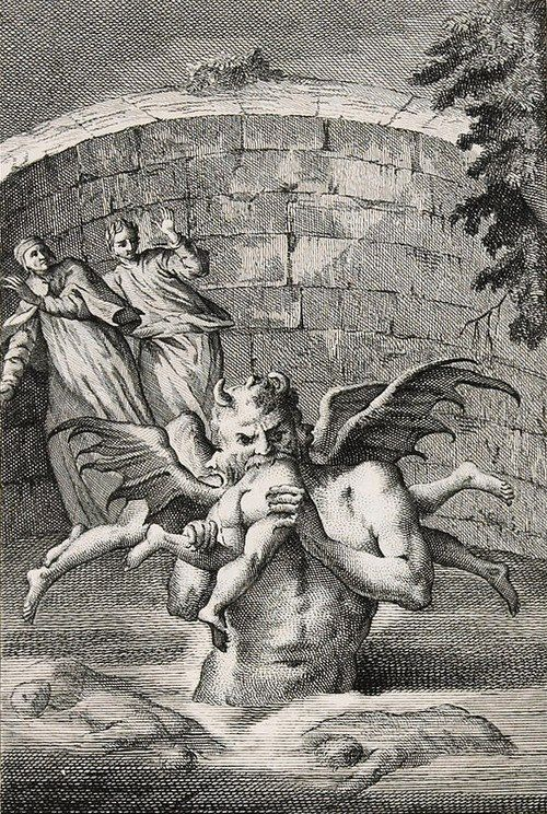 illustration from Dantes Inferno {Antonio Zatta 1757-58}