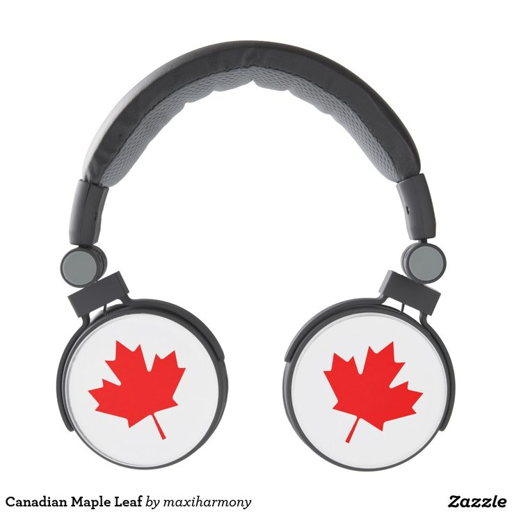 Canadian Maple Leaf Headphones
