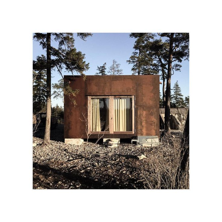 """463 Likes, 3 Comments - Skälsö Arkitekter (@skalsoarkitekter) on Instagram: """"west facade #befbunker18 #corten #steel #architecture #bunkerarchitecture #holidayhome #bungenäs…"""""""