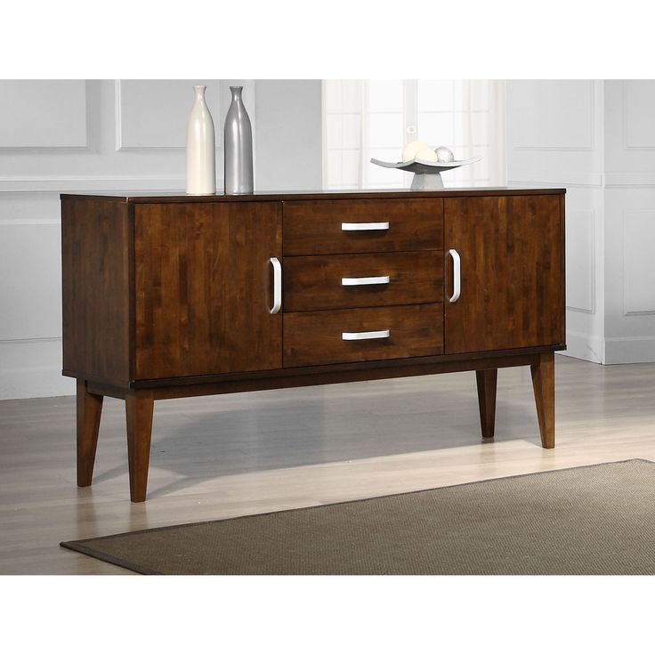 Draper Tobacco Finish Buffet Cabinet | Overstock.com Shopping   The Best  Deals On Buffets
