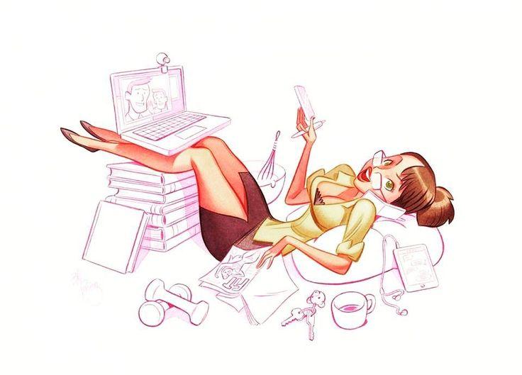 Aynı anda birçok işi birlikte yapmak yani #multitasking uzun vadede bizi oldukça olumsuz etkiliyor. #marconlab #health