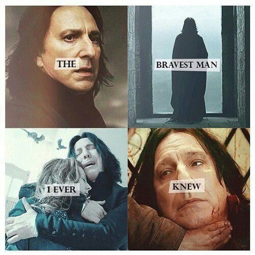 I will never be able to hold back tears from Snape's story.