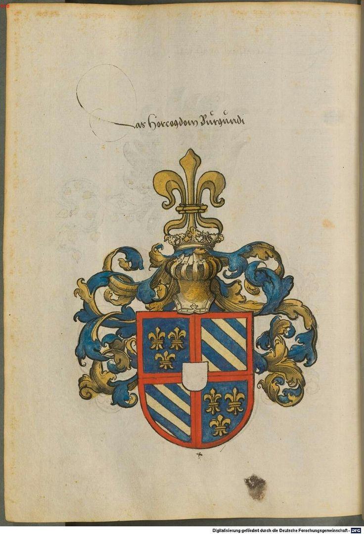 Wappen der Herzog von Burgenland / Coat of Arms of The Duke of Burgundy / Armas del Duque de Borgoña