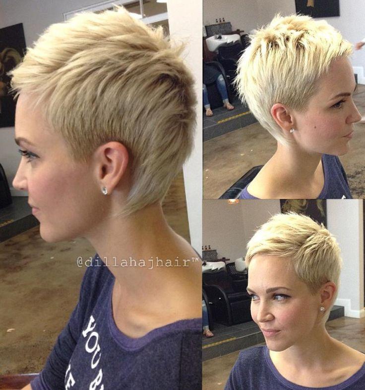 Blonde Pixie Fauxhawk                                                                                                                                                                                 More