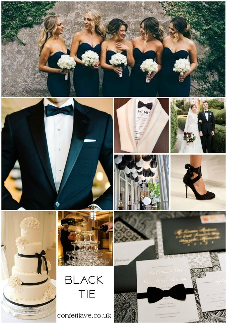 Best 25 Black Tie Bridesmaids Ideas On Pinterest