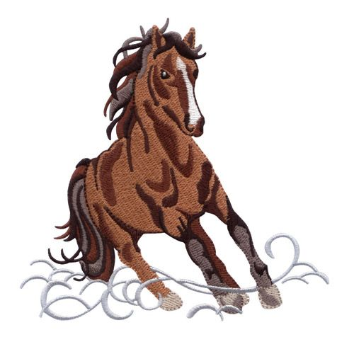 free machine embroidery designs horses | Wild Horses Embroidery Designs by Amazing Designs! Bred To Be Wild ...