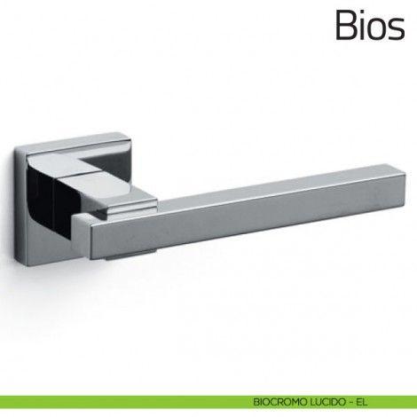 Maniglia per porta Bios Olivari biocromo lucido