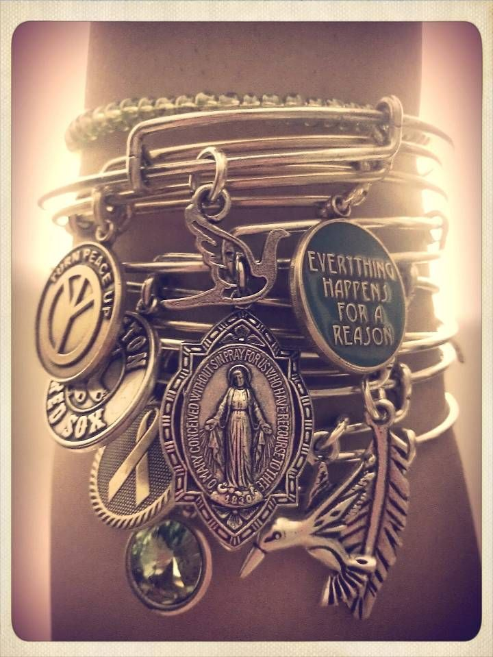 Alex and Ani bangles and charms. I could go crazy in their stores -- love it all!