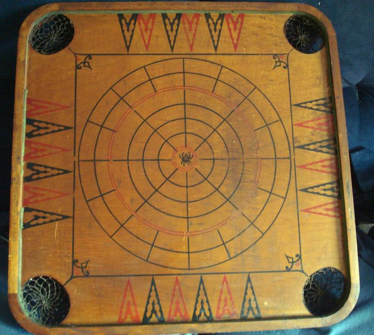 vintage ANTIQUE CARROM  board game 2 sided Style C Patent date 1902