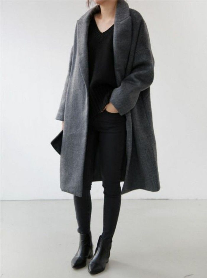Womit Lasst Sich Ein Grauer Mantel Kombinieren 70 Outfits