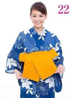 タレを同じ長さになるように整えます。 #浴衣 #yukata  #kimono #AneCan #葛岡碧 #帯