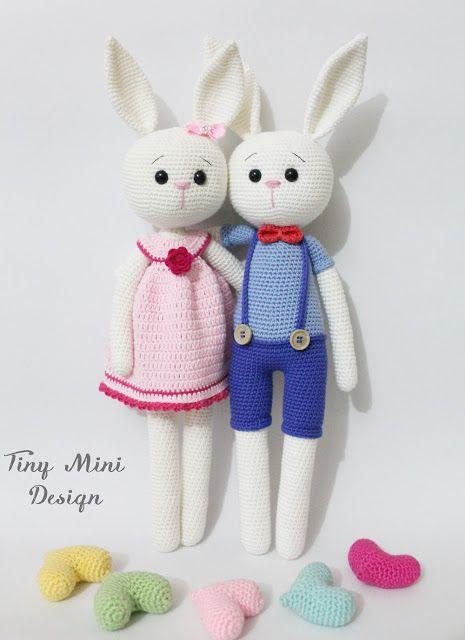 Yeni Blog İsmim ve Son Çalışmalarım-Amigurumi Cracker Bunnys Pattern - Tiny Mini Design