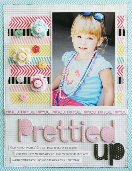 Prettied Up by Laura Vegas - Two Peas in a Bucket: Scrapbook Ideas, Crafts Ideas, Laura Vegas, Crafts Scrapbook, Scrapbook Galleries, Scrapbookgir Girls, Scrapbook Layout, Washi Tape, Scrapbook Girls