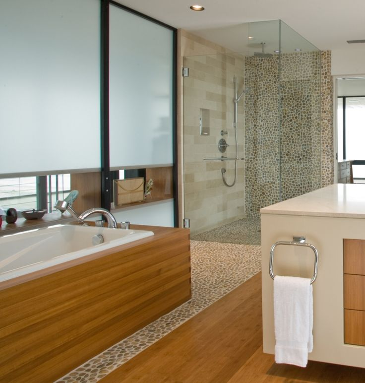 Find This Pin And More On Bathroom Pebble Tile And Stone Tile Ideas