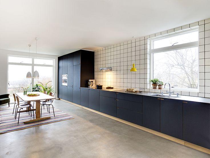 Kjøkken, betonggulv
