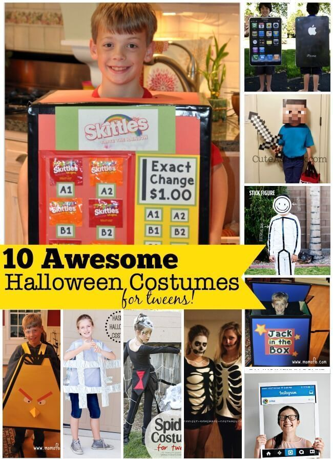 20 awesome Halloween costumes for tweens that you can make at home!
