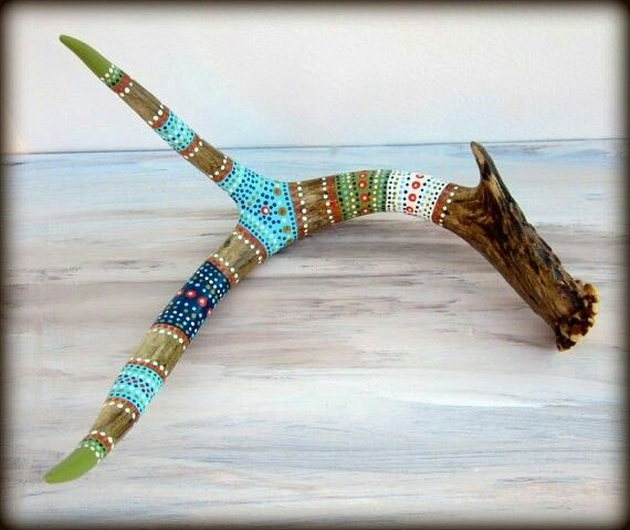 Painted antler