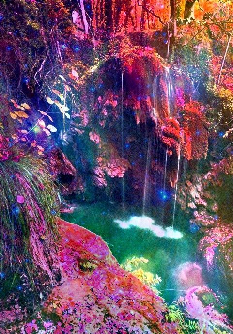 Trippy dope waterfall a total mind fuck in 2019 - Trippy nature wallpaper ...