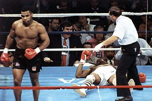 1988 - Mike Tyson destroys Michael Spinks in 91 seconds.... Spinks never returned to the ring.