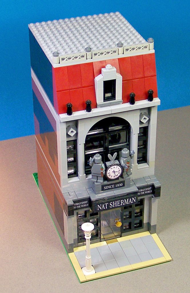 My rendition of the Nat Sherman cigar store in New York City. I completely rebuilt my former version.