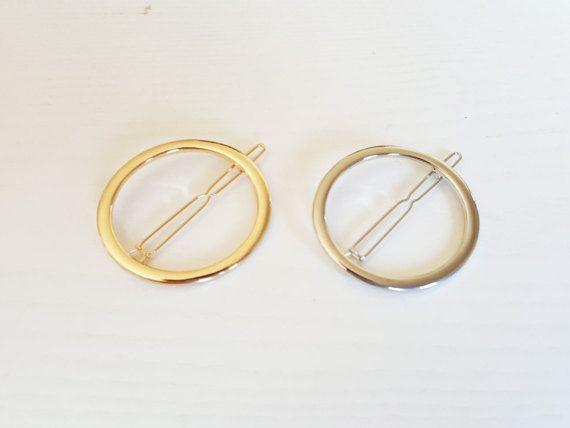 Open Circle Hair Clip Gold Hair Clip Silver Hair Clip