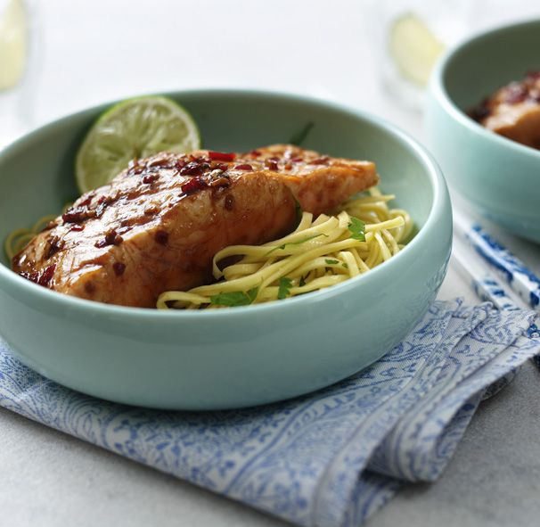This teriyaki salmon recipe is on the table in five simple steps