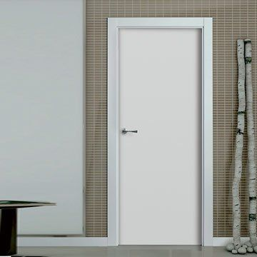 San rafael lacada flush door model 950 white painted - Pre painted white interior doors ...