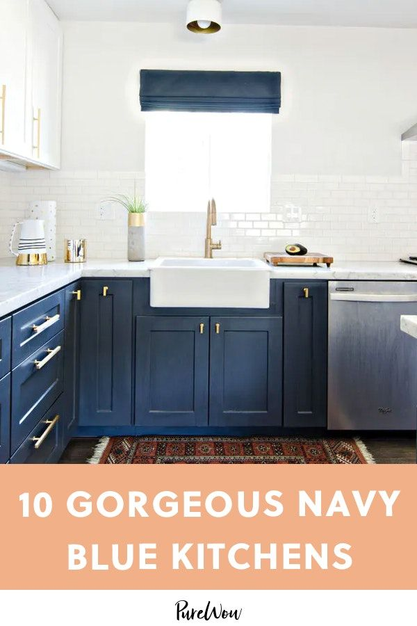 10 Trendy Navy Blue Cabinets You Ll Fall In Love With White Modern Kitchen Kitchen Trends Kitchen Decor