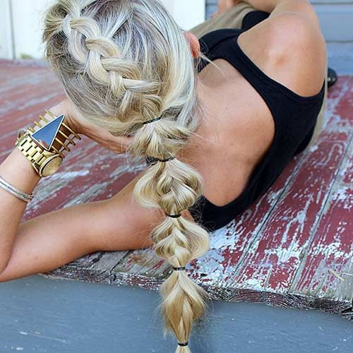 Messy and Loose French Braid Ponytail