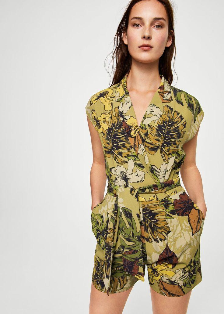 Floral print jumpsuit | MANGO