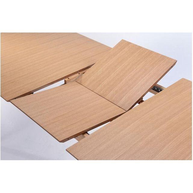 Une table extensible d'inspiration scandinave LaTable Scandinave Extensible Chêne 90x180/226 CHAZZ associe le côté pratique des tables extensibles au design en bois typique des produits scandinaves. - Matière :Contreplaqué- Couleur :Chêne- Dimensions : L.224 x P.90 x H.76 cm- Poids : 43 kg