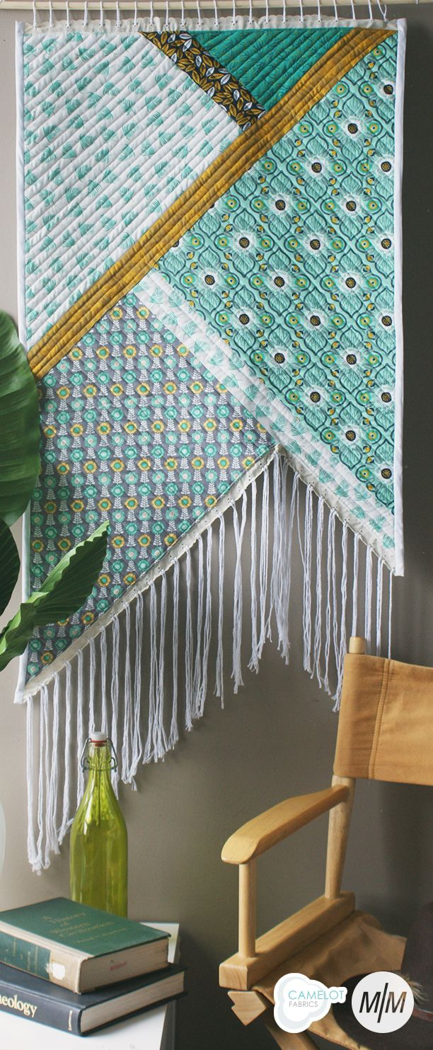 How To's Day | Fringed Wall Quilt Tutorial | Botanical Collection by Alisse Courter for Camelot Fabrics Maria Naidu