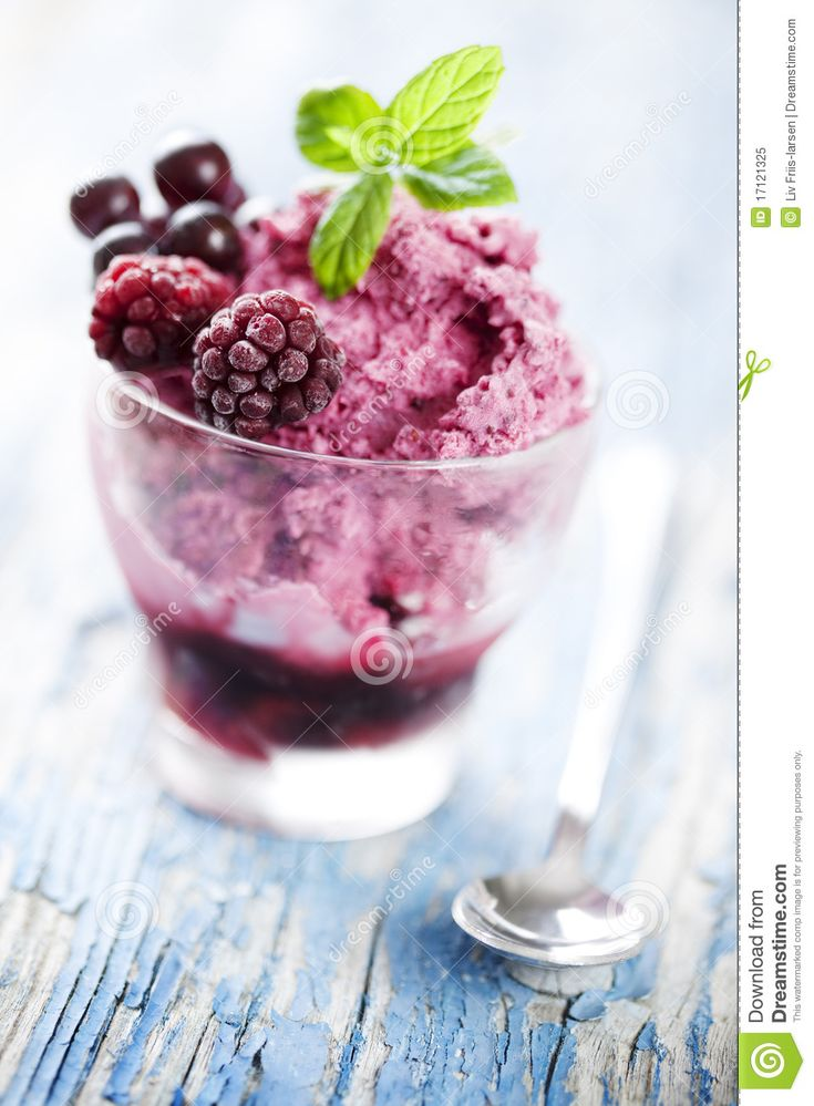 Photo about Delicious frozen berry dessert, focus on the front berry. Image of garnish, mousse, dessert - 17121325
