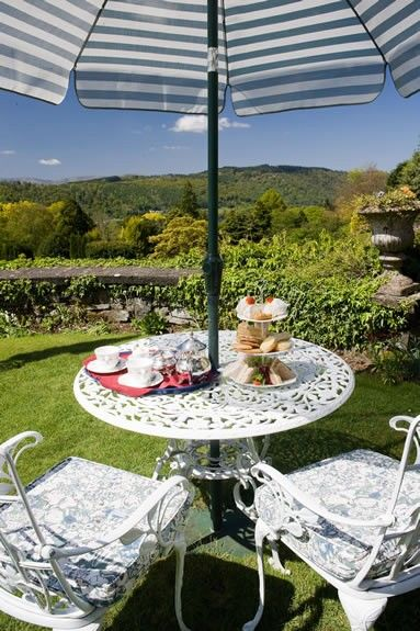 #AfternoonTea may be served in the lounge, at a window table in the dining room or on the Terrace outside (weather permitting!).