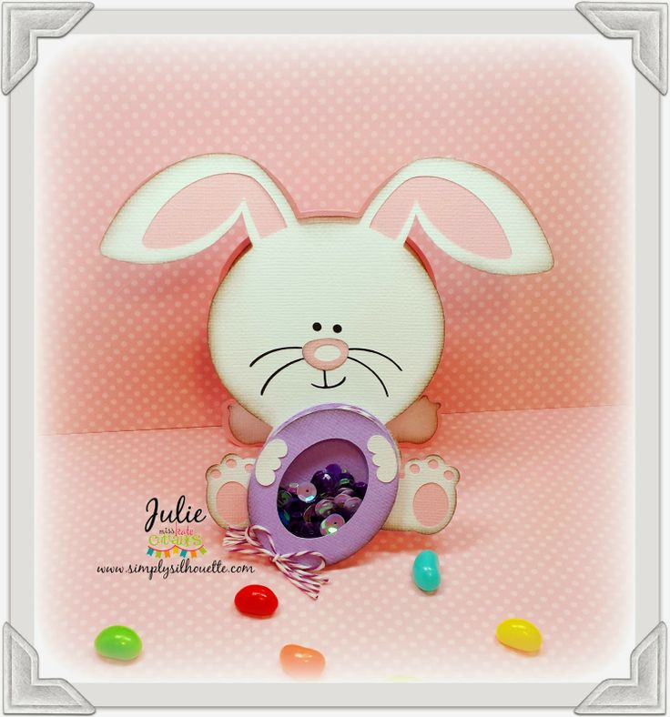 Easter Bunny Holding an Egg...