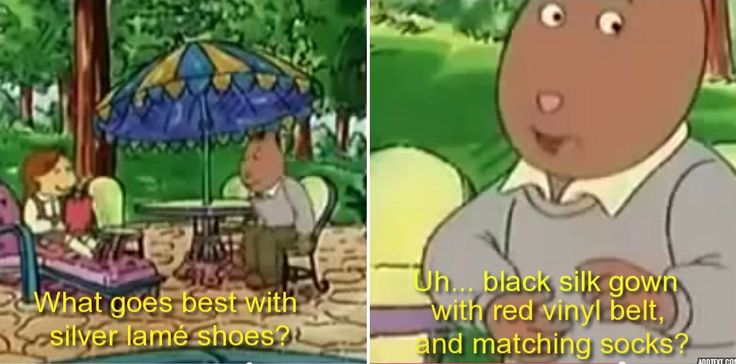 Brain's fashion advice. How funny that D.W. and Brain have a lot in common, but D.W. was closer to Muffy's expectations of a best friend than Brain was.