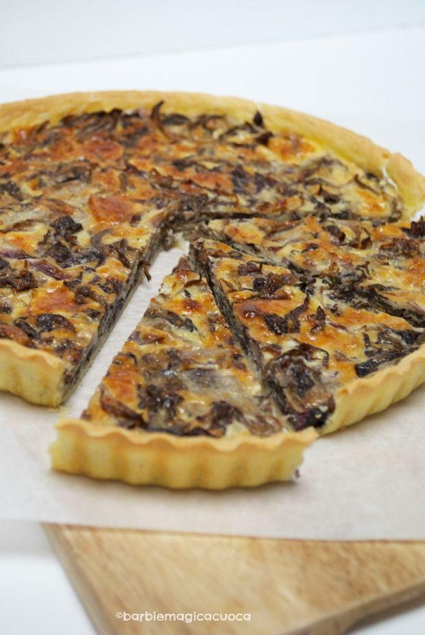 Torta rustica (quiche) al radicchio