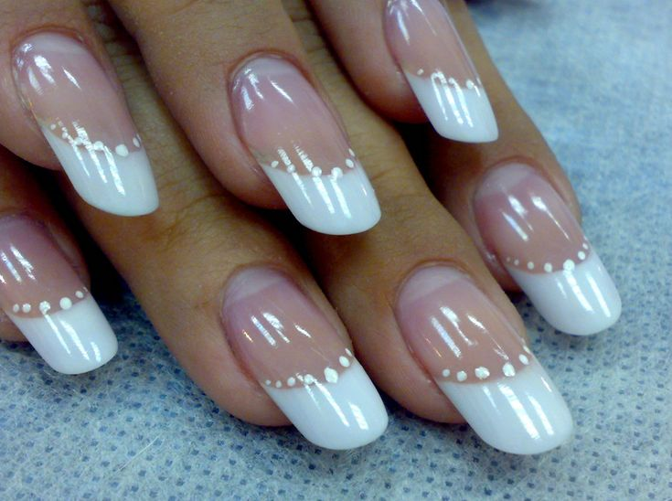 Approaching Acrylic Nail Designs for the Fashionable Girls : Acrylic Nail  White Colour Tip Designs. Acrylic Nail,acrylic nail art,acrylic nail designs  ... - 25+ Trending White Tip Acrylic Nails Ideas On Pinterest French