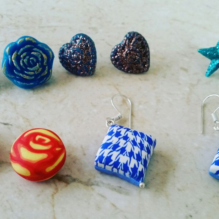 Clay earrings made to order from Gemhance. Contact gemhance@gmail.com