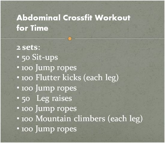 Great ab workout. Took me 30 minutes to complete 2 sets. Added Russian twists and used a medicine ball for added resistance!