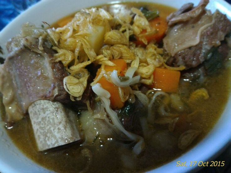 Short ribs soup